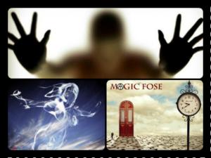 Призрак, тень, дверь, часы, дух