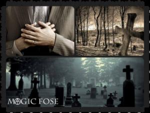 Покойник, кладбище, крест